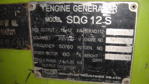 中古機械 デンヨー製中古発電機