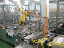 製造ライン【20040616】製函機製造ライン 箱詰ロボット一式 買取