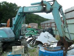 油圧ショベル【2008103】コベルコ製中古建設機械 油圧ショベルSK75UR型買取
