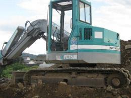 ユンボ【2005001】小松製中古建設重機ユンボPC75UU-2  1282hrs買取