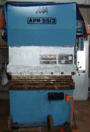 プレスブレーキ【2011029】相澤鐵工所製中古板金機械ブレーキプレスAPM5513平成10年製買取