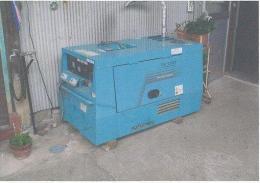 建設機械【2010029】デンヨー製中古建設機械防音型エンジン発電機TTLG-13SPY型買取